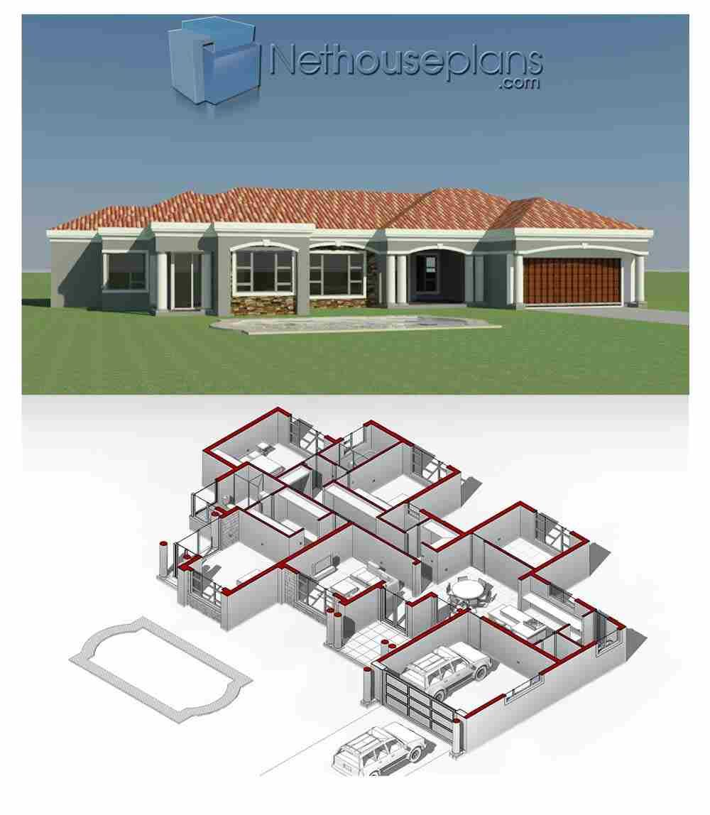 House Plans In South Africa For Sale Online Buy Modern Double Storey 3 Bedroom Floor Plans 4 Bed In 2020 House Plans For Sale House Plans South Africa My House Plans