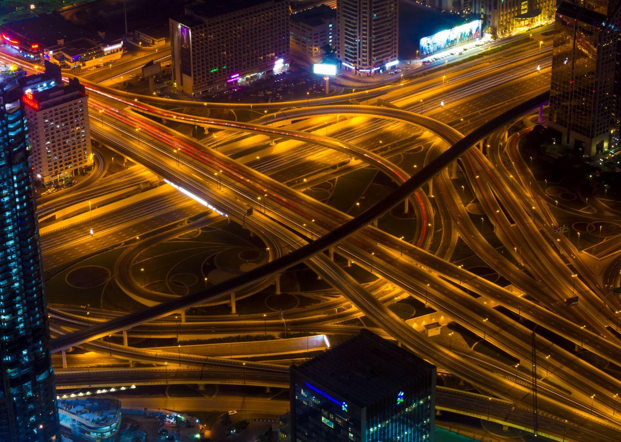 An Amazingly Built Interchange At Sheikh Zayed Road Abu Dhabi