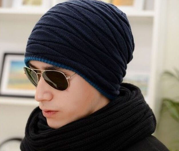 6e05af429c0 2018 Knitted Men Winter Hat Autumn Sport Beanie Men Warm Skullies Casual Cap
