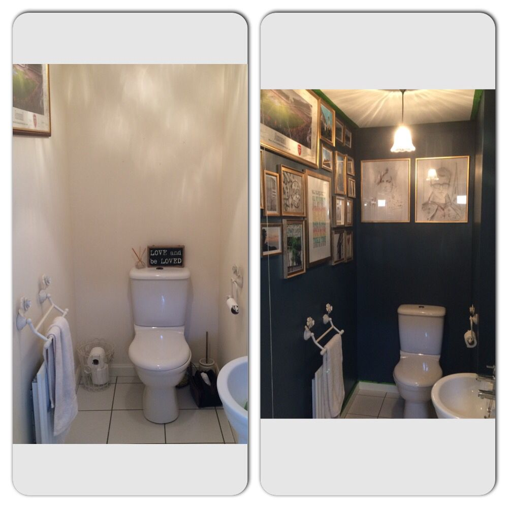 Before And After Downstairs Toilet Farrow And Ball Hague