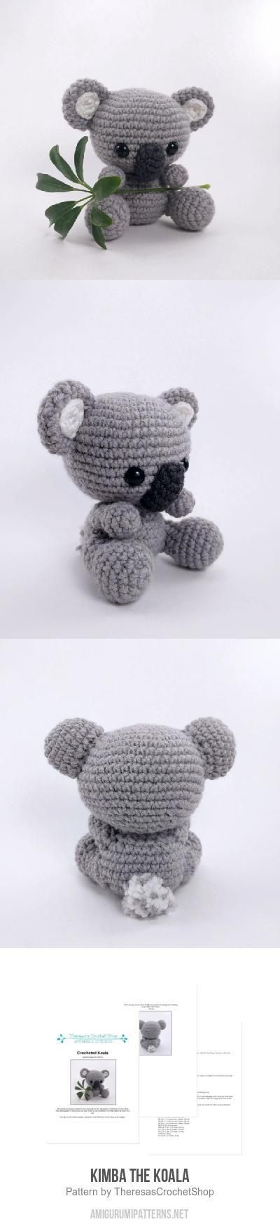 Kimba the Koala amigurumi pattern by Theresas Crochet Shop | Tejido ...