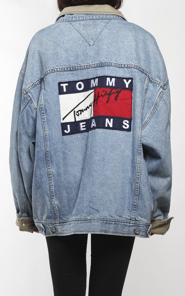 Vintage Tommy Hilfiger Denim Logo Jacket | Tommy Hilfiger in 2019 | Pinterest | Tommy hilfiger ...