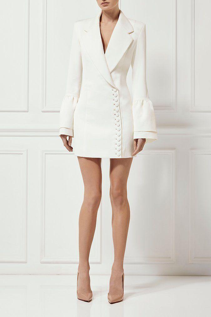 a828e704fe6d LARRISA BLAZER DRESS IVORY - Dresses - Shop | Misha Collection ...