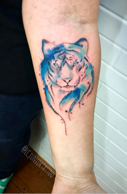 fef947e57 Watercolor Tiger Tattoo | Animal Tattoos | Tiger tattoo, Tiger ...