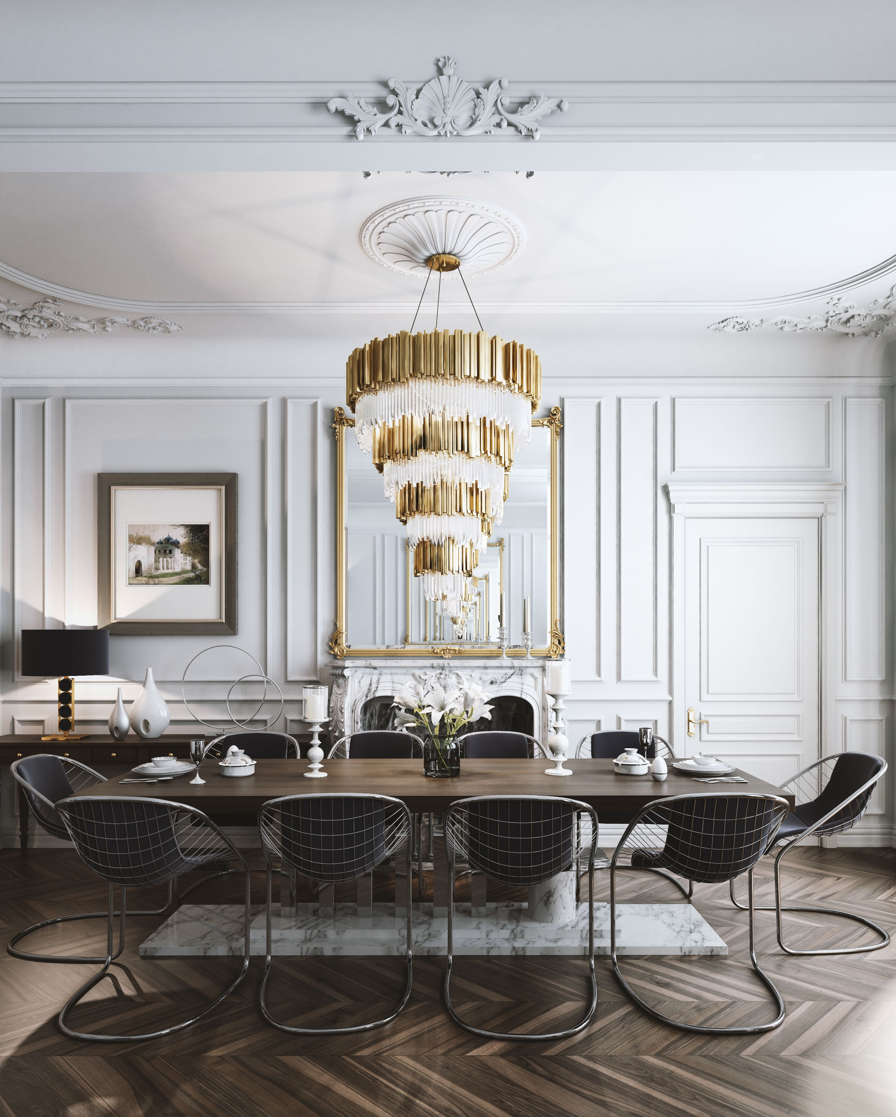 70 Modern Dining Room Ideas For 2019: Interior Design And Visualization On A Project In Paris
