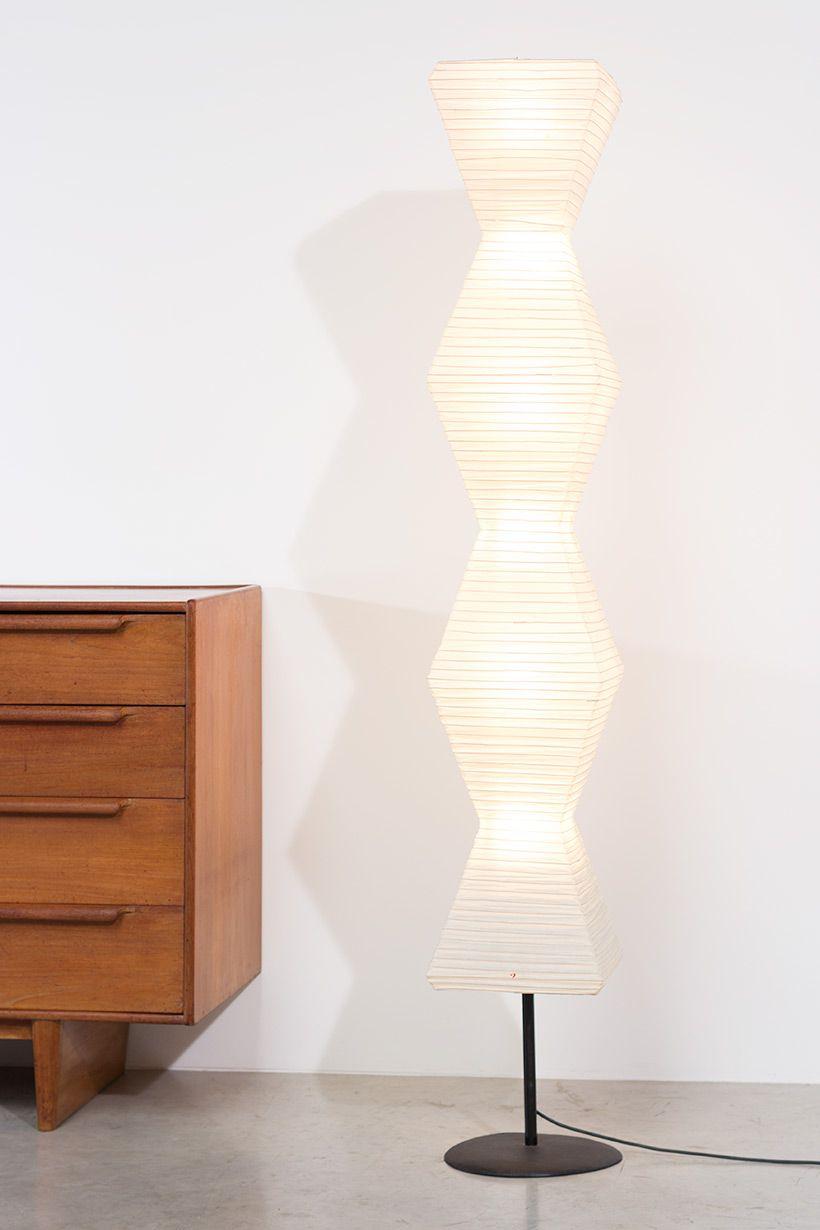 akari furniture. Isamu Noguchi Akari Light Shoji Paper The Endless Column Floor Lamp Furniture L