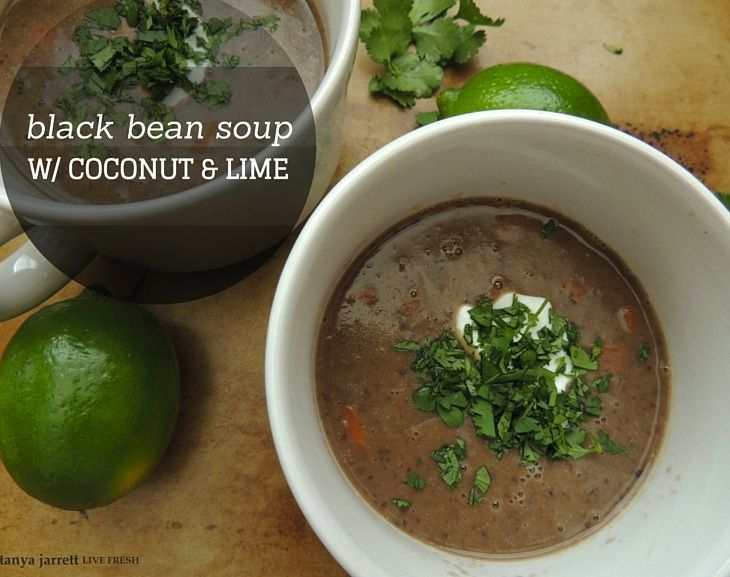 The BEST black bean soup ever!  Easy to make and loaded with flavor.  You can add spice or keep it simple.