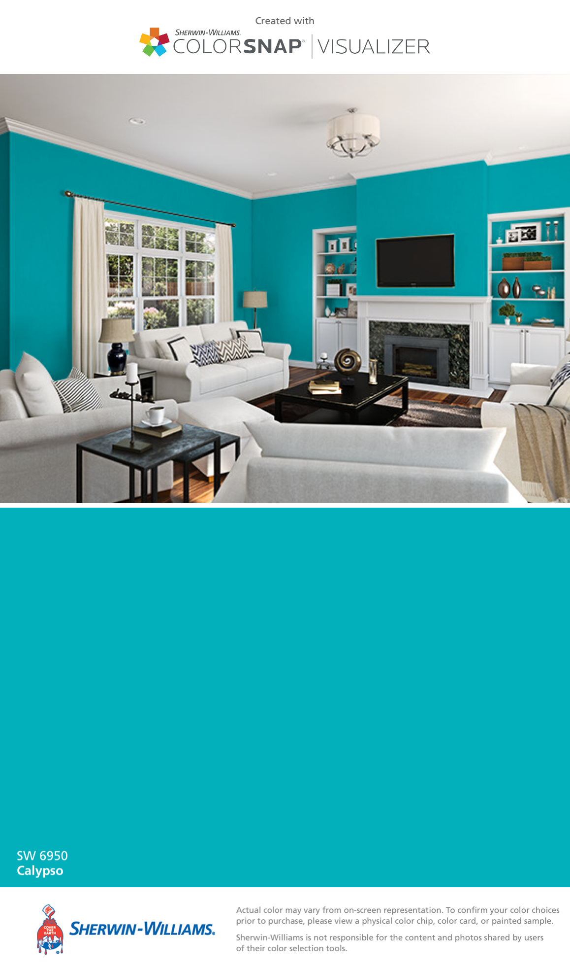 Sherwin Williams Calypso : sherwin, williams, calypso, Found, Color, ColorSnap®, Visualizer, IPhone, Sherwin-Williams:, Calypso, 6950)., Paint, Colors, Home,, Colors,, Matching