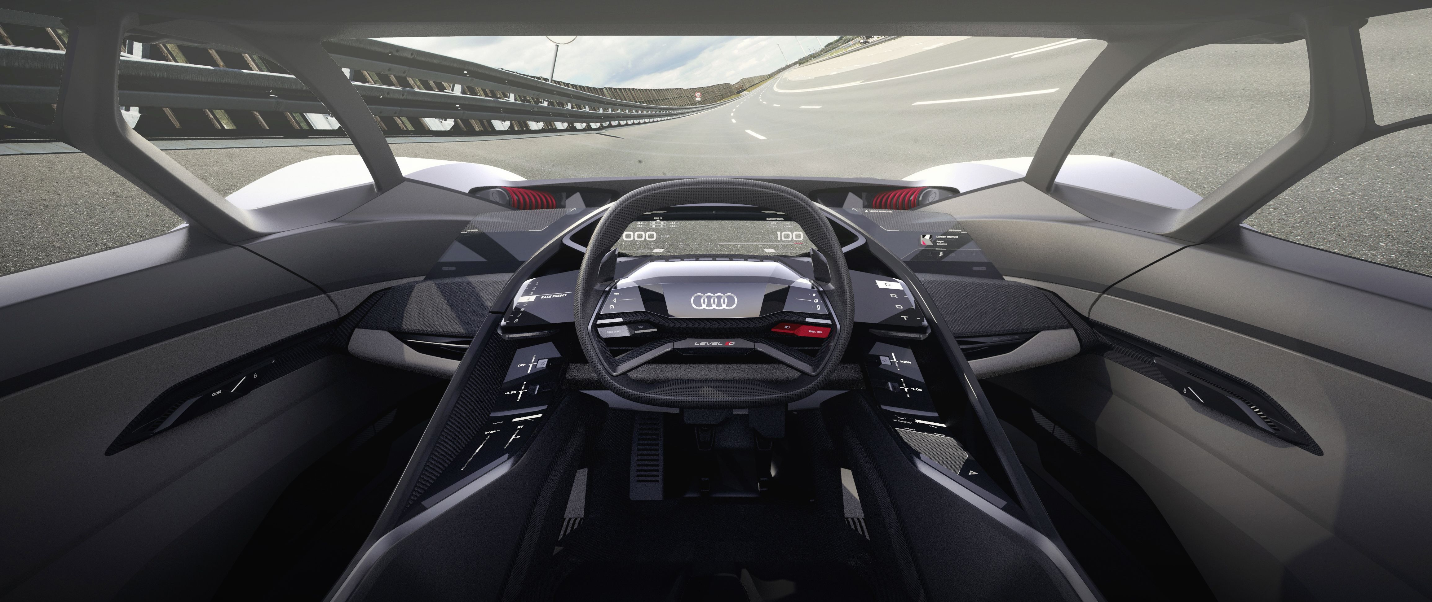 Audi S Pb18 E Tron Supercar Designed Around Ideal Driver S Position In The Centre E Tron Audi Supercar Design