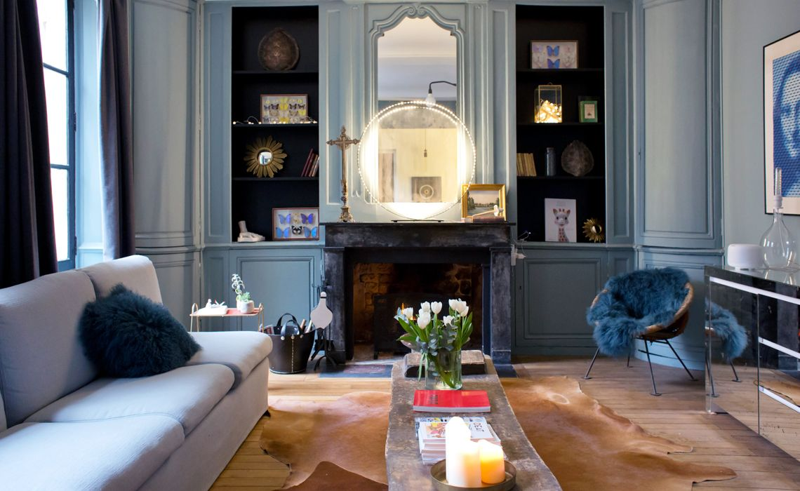 oval blue room farrow&ball | Déco salon, Beaux appartements ...
