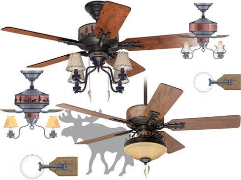 Adirondack Hunter Fan, Design by Christophe Badarello For Lowe's