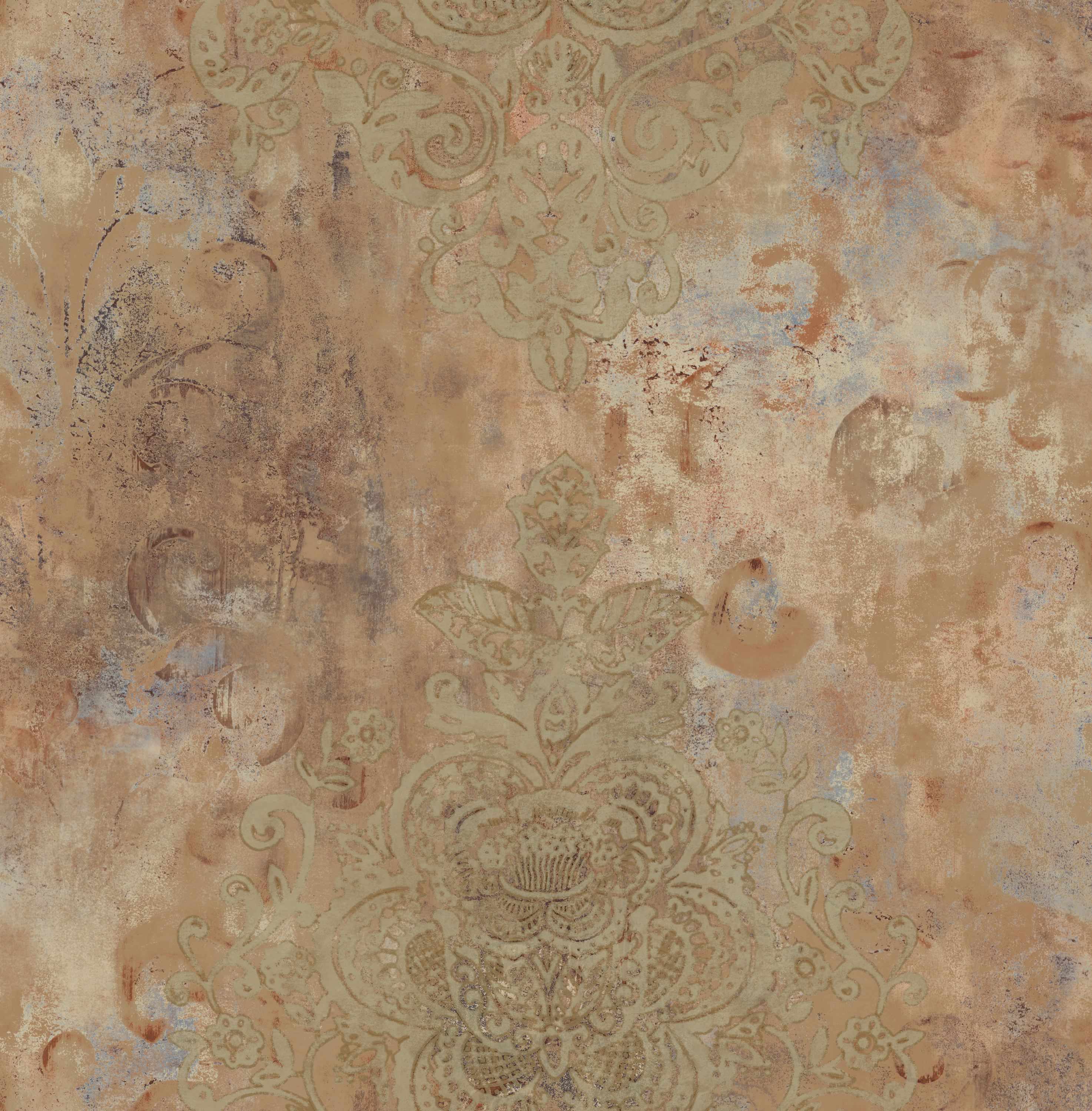 Wall painting effects - Didi S Damask Faux Effect Painted Wallpaper Fax 38950 Faux Effects Wall Paper
