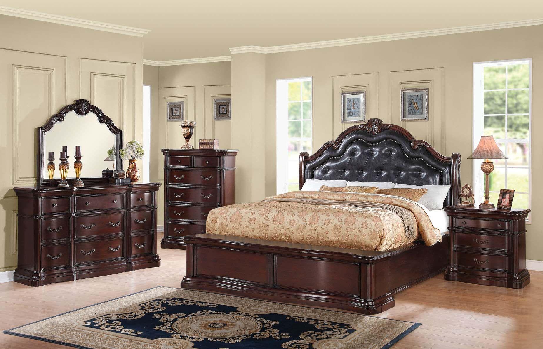 Acme Veradisia 4Piece Storage Bed w/ Button Tufted