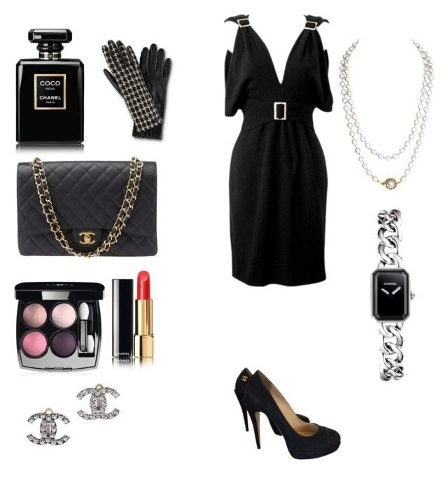 """""""Black Channel Beauty """" by fashionaddict1111 ❤ liked on Polyvore featuring mode en Chanel"""