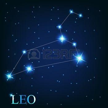 Stock Vector Constelacion Leo Tatuajes Signo Leo Signo