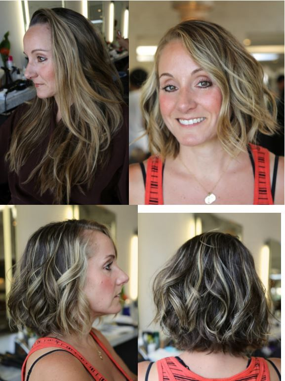 Haircut Before And After Hair Makeover Long To Short
