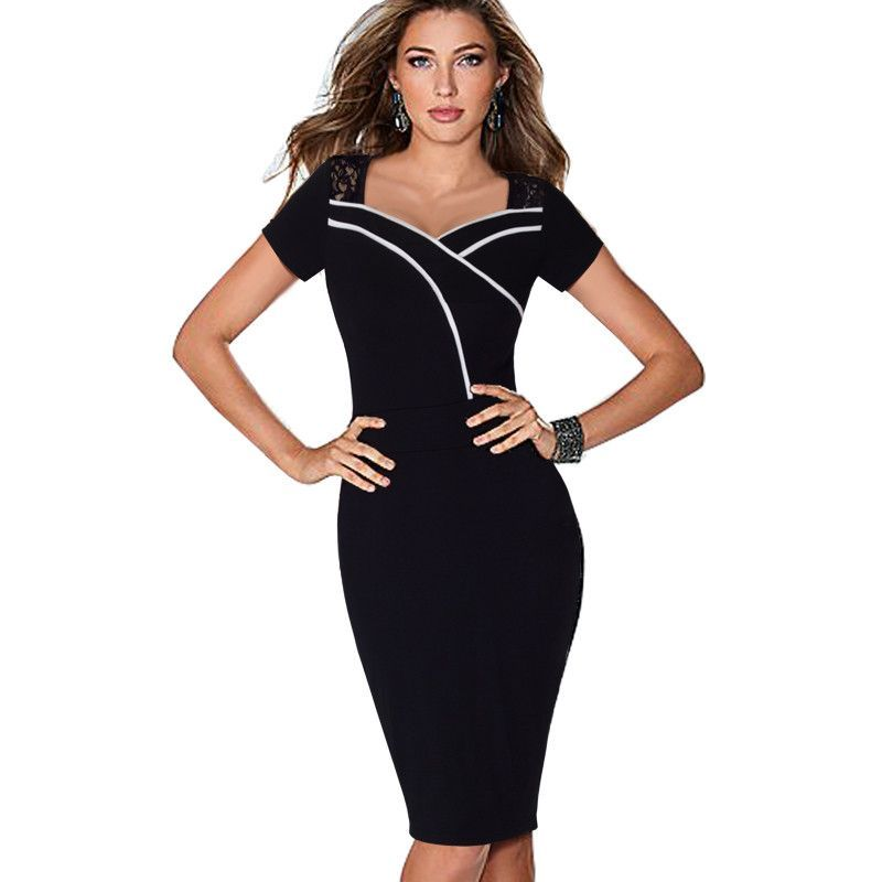 Cheap pencil dress, Buy Quality bodycon dress directly from China lace  bodycon dress Suppliers: YATHON Fashion Chic Sweat-heart Neck Sexy Lace  Bodycon Dress ...