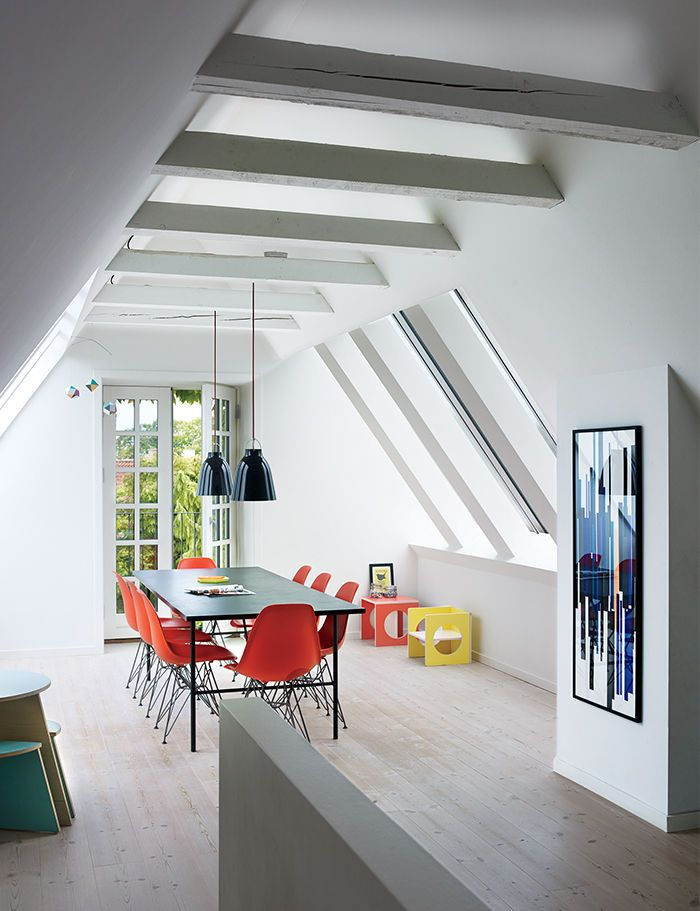 A cramped attic became a sunny dining room in this for House facade renovation ideas