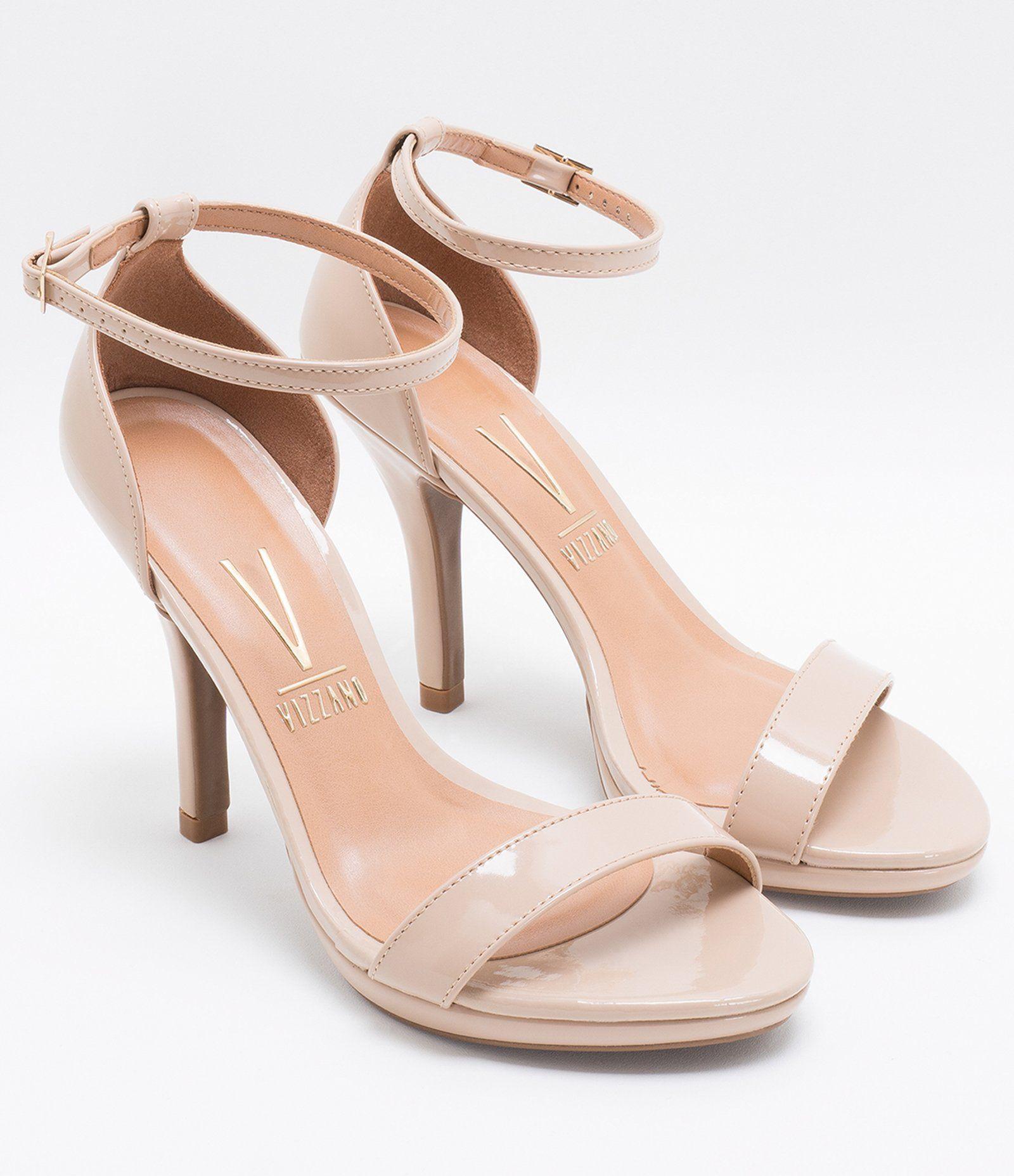 861df98018 Sandália feminina Material  sintético Com calcanhar fechado Marca  Vizzano  Com tornozeleira Salto alto Altura