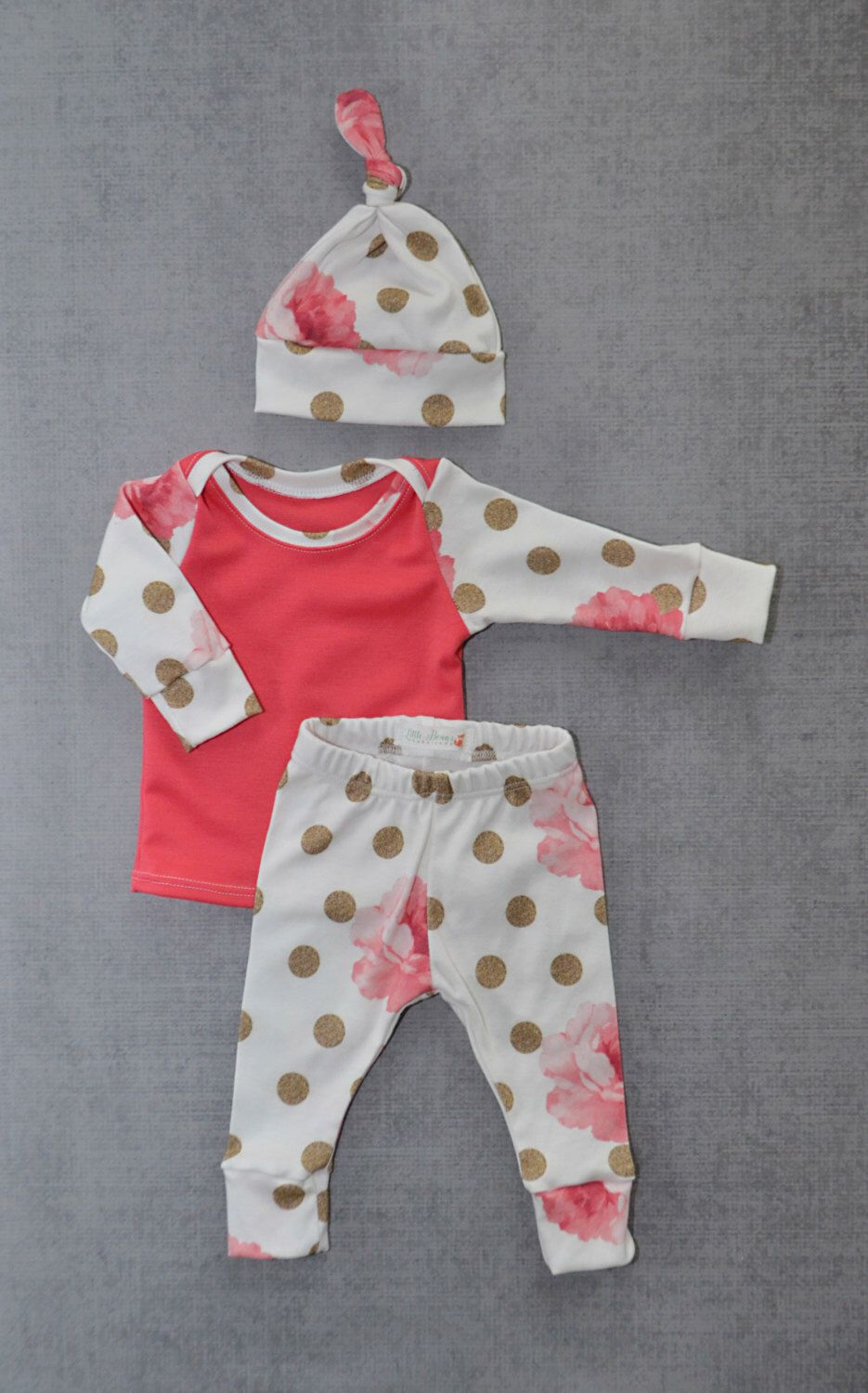 Newborn girl, coming home outfit, baby outfit, baby girl outfit ...