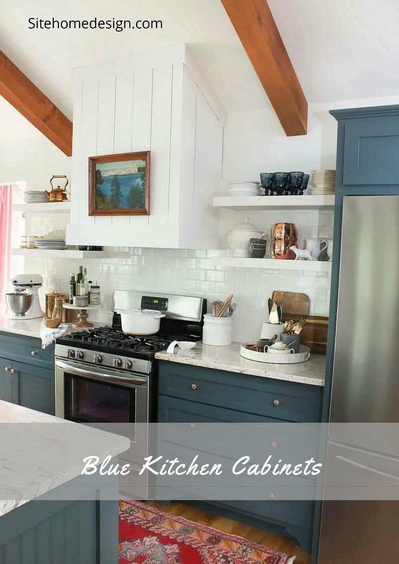 31 Beautiful Blue Kitchen Closet Concepts Blue Kitchens Blue Kitchen Cabinets Kitchen Cabinets