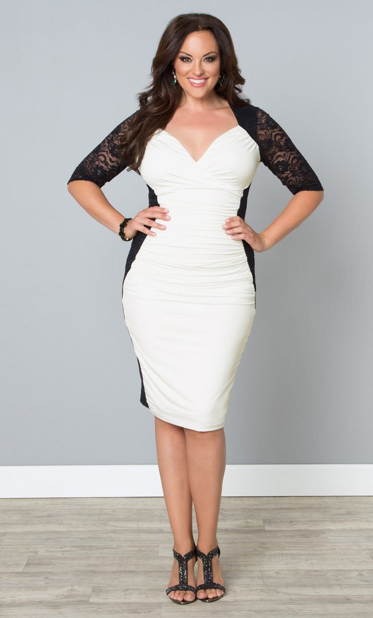White Semi Formal Dresses for Plus Size Women