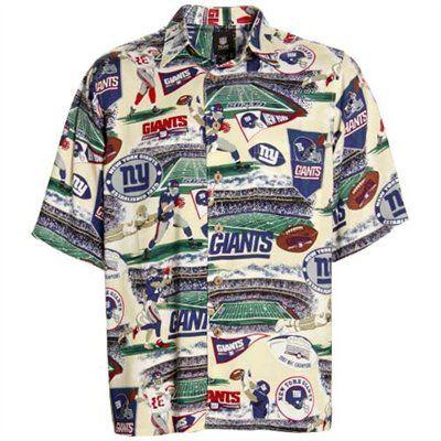 11751fc0 Reyn Spooner NY Giants Cream Scenic Print Hawaiian Button-Up Shirt ...