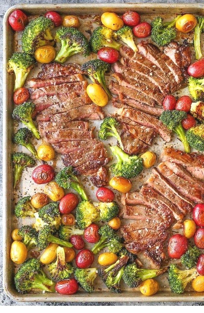 Sheet Pan Steak And Veggies | Clean Eating Recipes #cleaneatingforbeginners