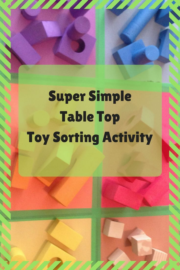Table Top Toy Sorting by Color | Top toys, Toy and Activities