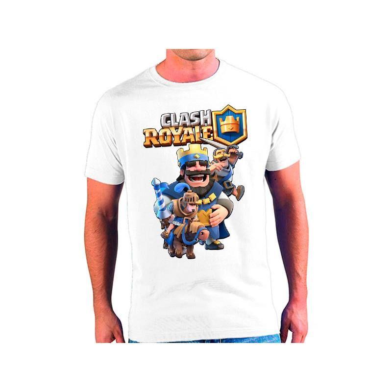 33ebd19e95 Camiseta Clash Royale Rey Azul - Poli