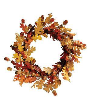 Look what I found on #zulily! Burr Oak Wreath by Great Finds #zulilyfinds