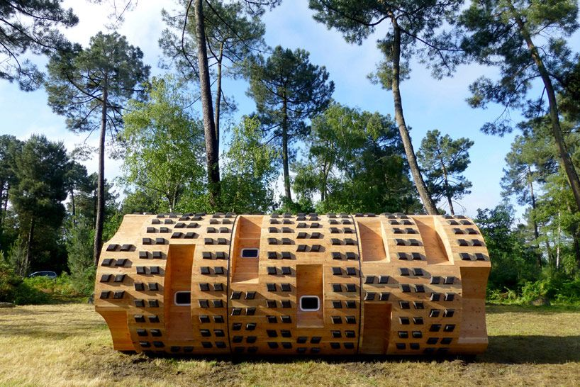 bruit du frigo build circular nature hut le tronc creux in bordeaux