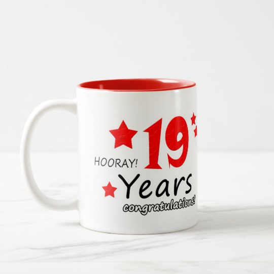 19th Anniversary 19 Years Wedding Anniversaries Two Tone Coffee Mug Zazzle Com Homemade Anniversary Gifts 29th Anniversary 27th Anniversary