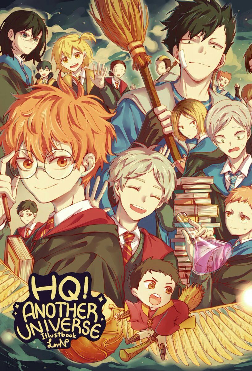 Haikyuu!! | Harry Potter altho where is kags!!!!!! And oikawa!!!!!! And beloved IwaChan??!?!!?!??!??!!??!!???!!!