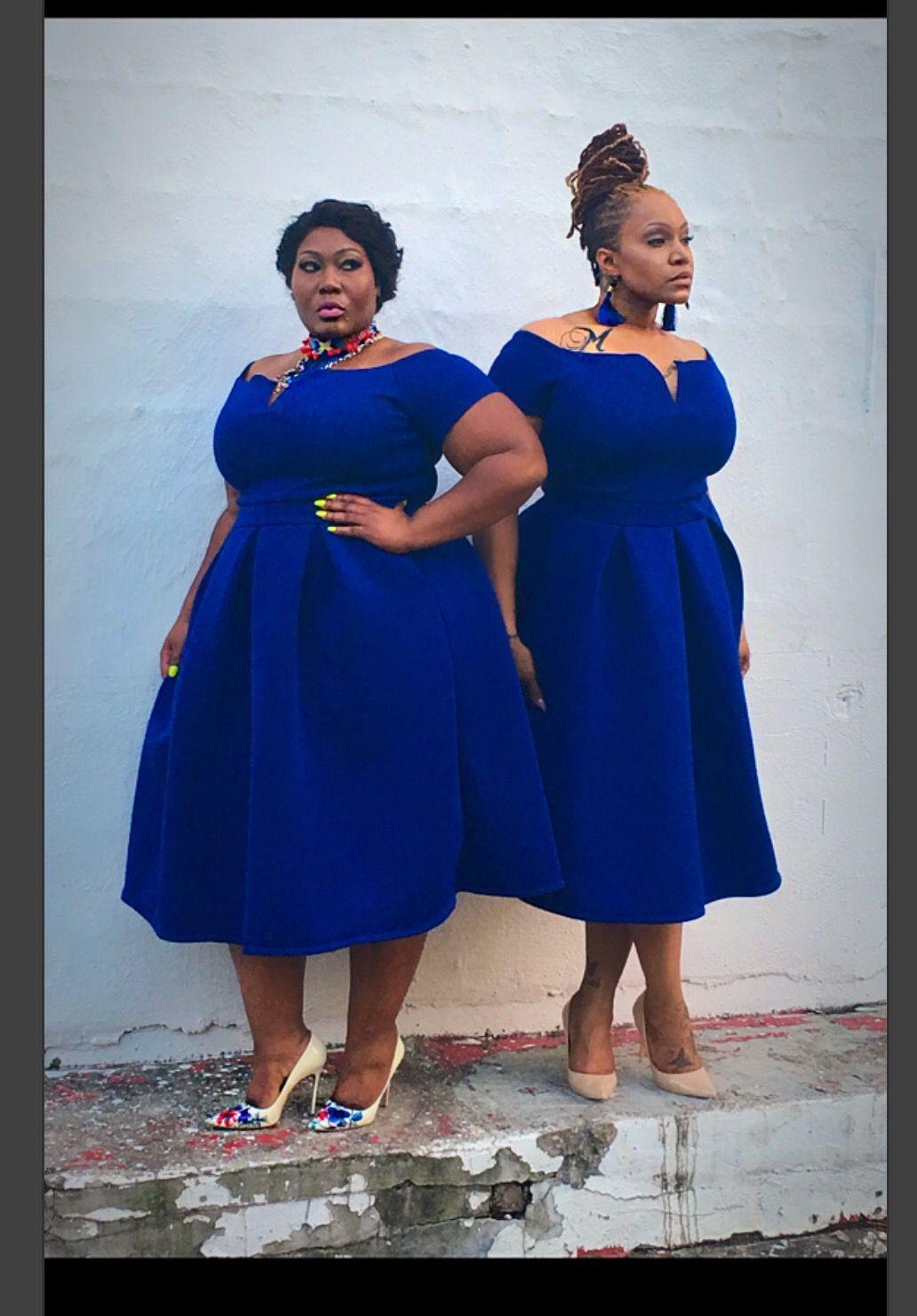 ROYAL BLUE SKATER DRESS Blue plus size dresses, Royal