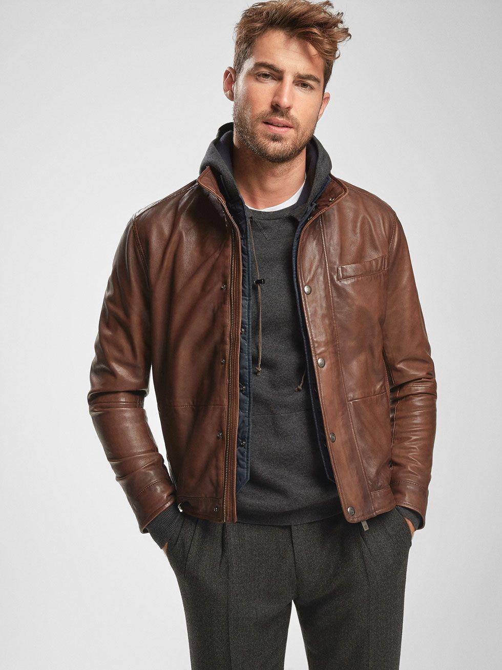 99a7f057f Leather jackets - MEN - Massimo Dutti | Kindled Spirit | Men's coats ...
