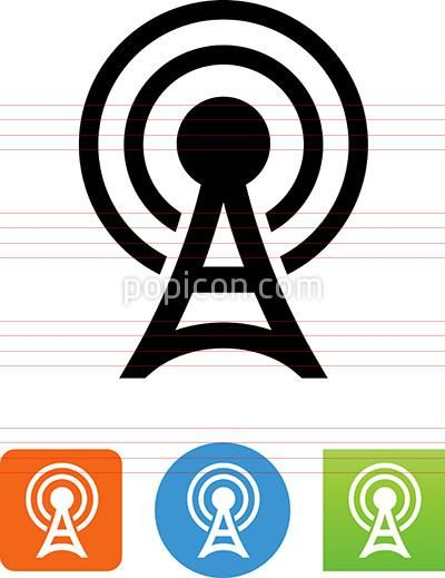 Vector Radio Communication Tower Icon Communication Icon Communication Tower Icon