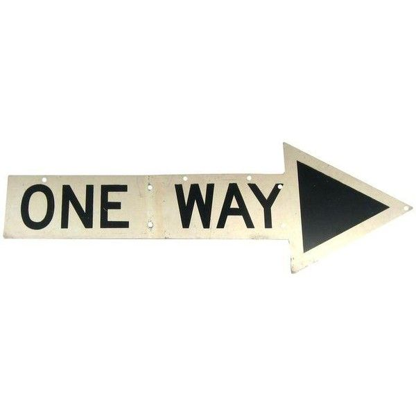 New York City One Way Sign (£150) ❤ liked on Polyvore featuring