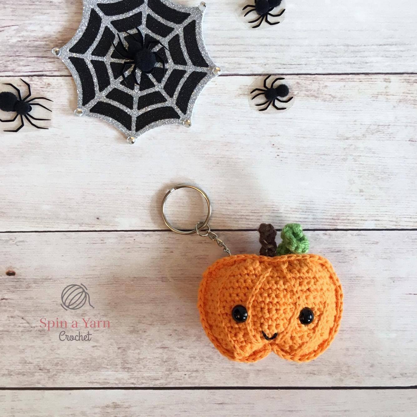 Pumpkin Keychain Free Crochet Pattern