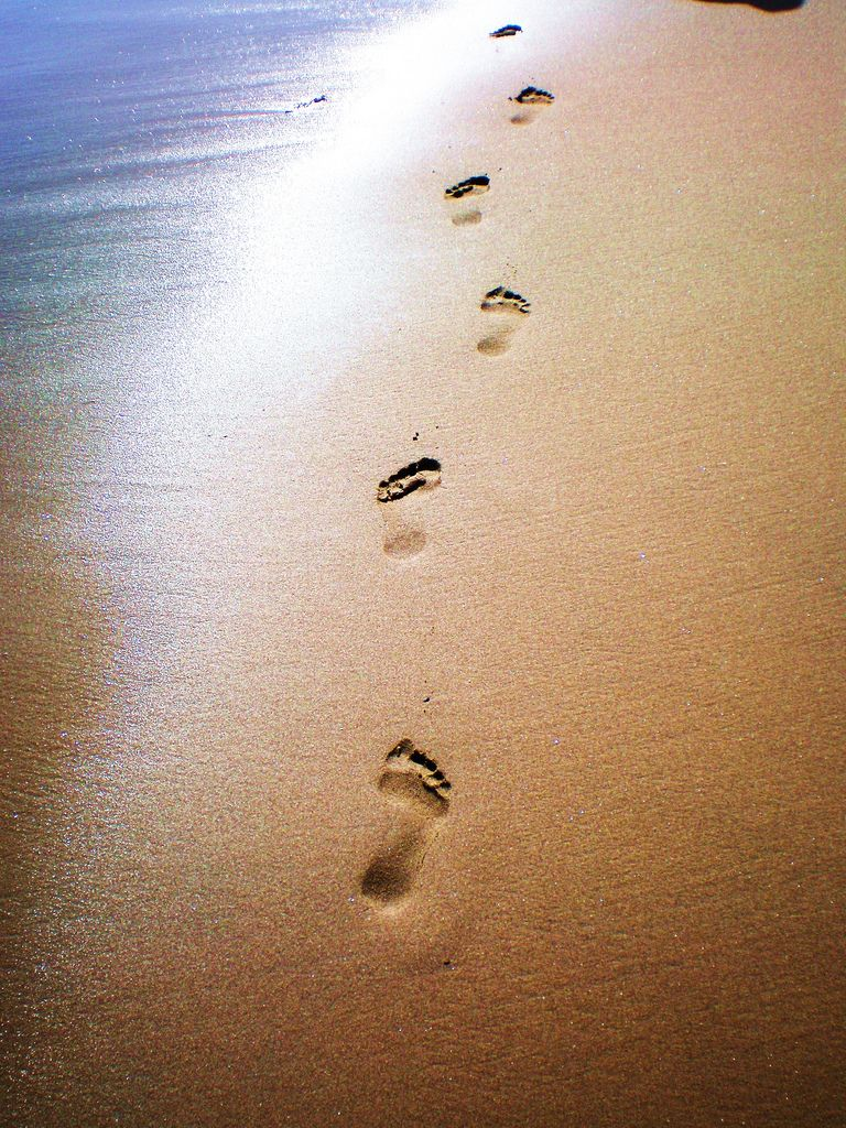 footprints in the sand wallpaper hd-2 | ocean/ beaches in 2019
