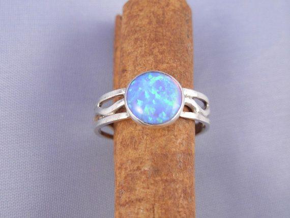 Opal Silver Wave  Ring  - ElenadE - R1072