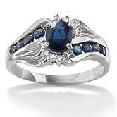 Found it at Wayfair - Sapphire and Diamond Accent Ring