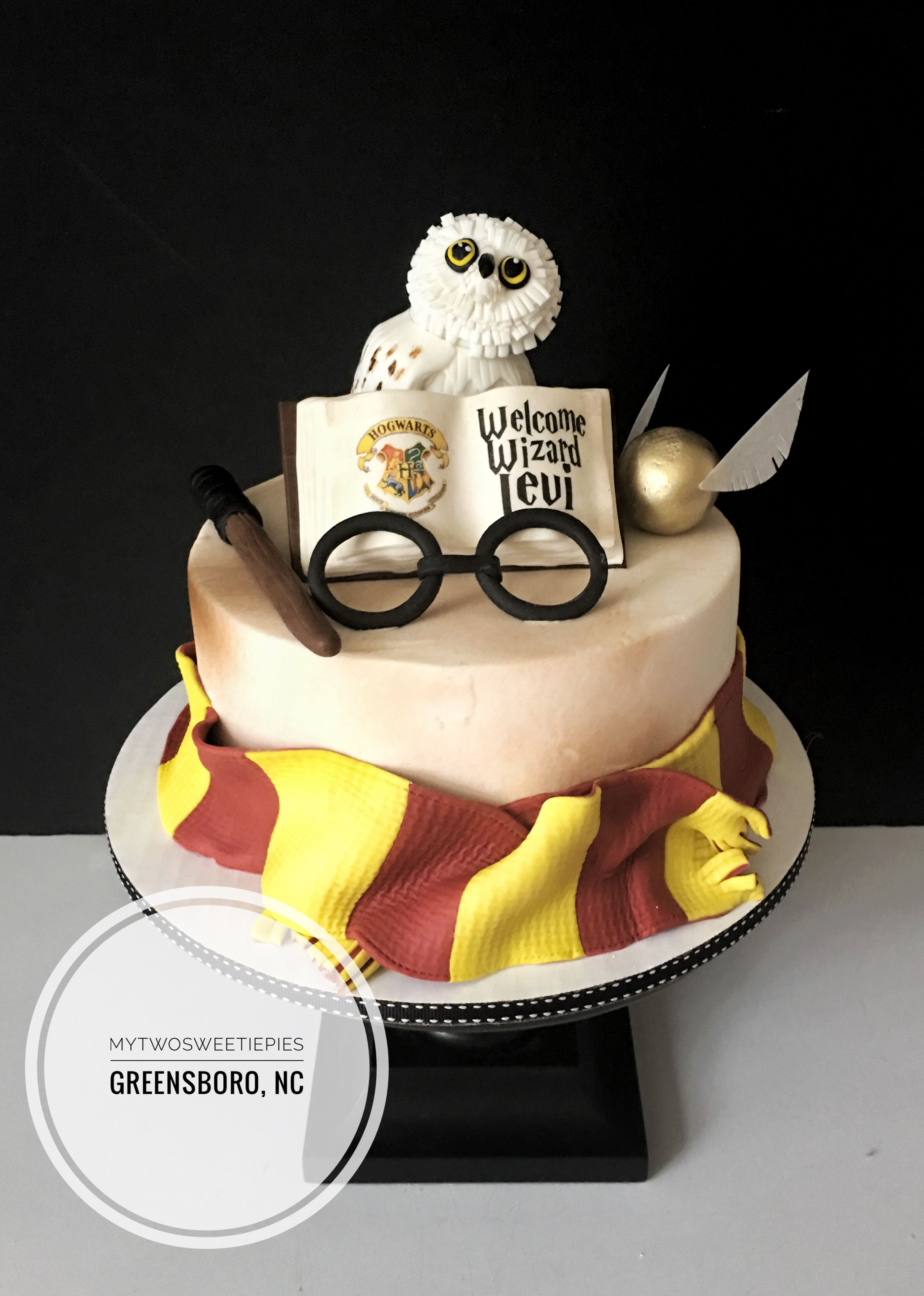 Harry Potter Baby Shower Wizard Cake With Images Harry Potter