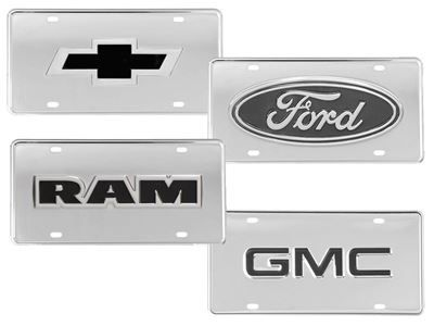 Ford F-150 F150 Logo Powder Coated Black Gloss License Plate Frame Tag