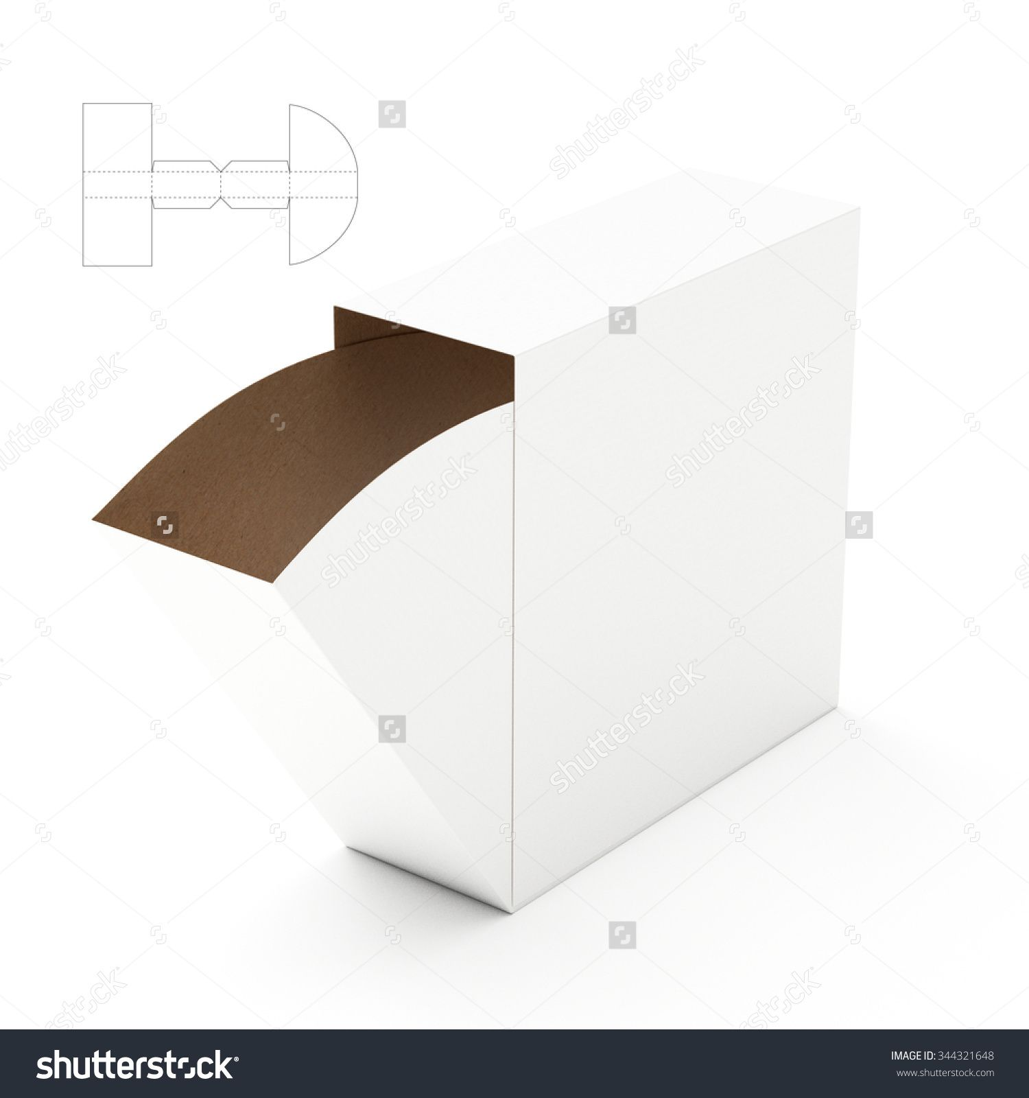 Slim Dispenser Box with Die Cut Template