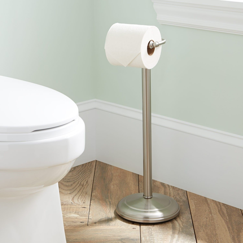 Standing Tissue Holder Toilet Paper Holder Paper Holder Brass Toilet Paper Holder