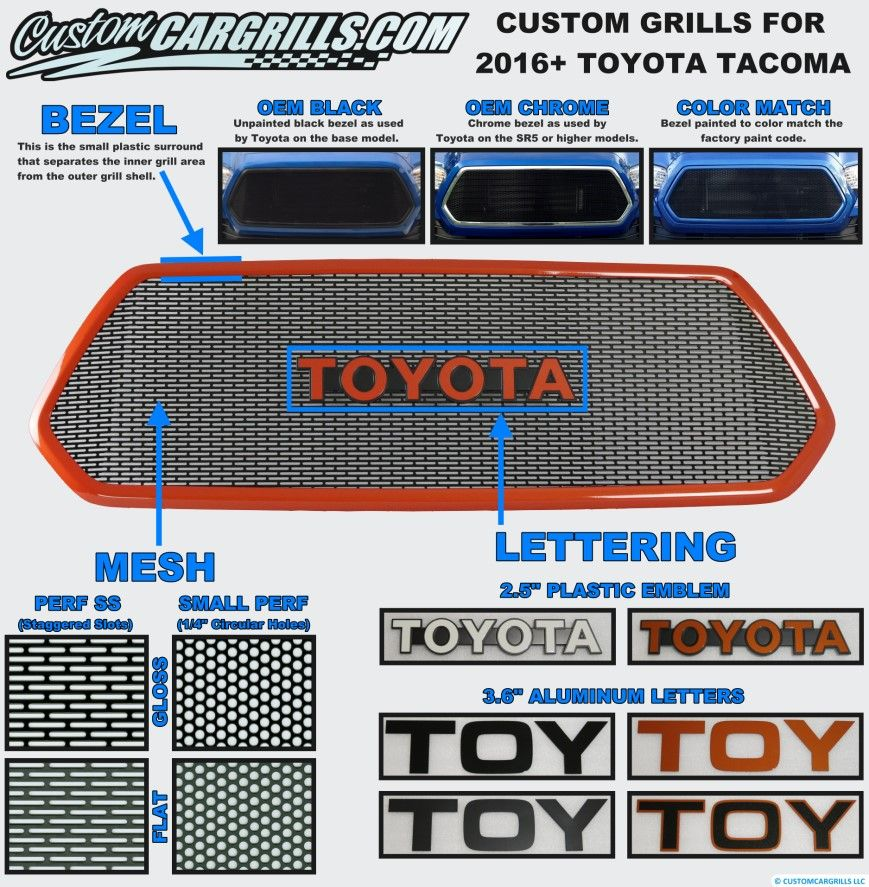 Toyota Tacoma Grill Diagram Toyota Tacoma Tacoma Toyota