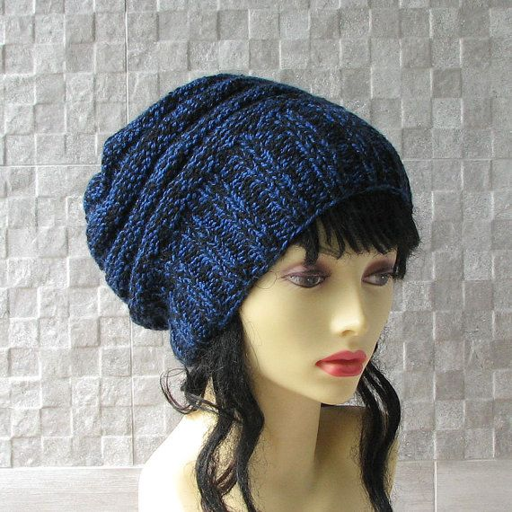 Women's Knit Hats Hand Knit Hat Slouchy Hat in by AlbadoFashion