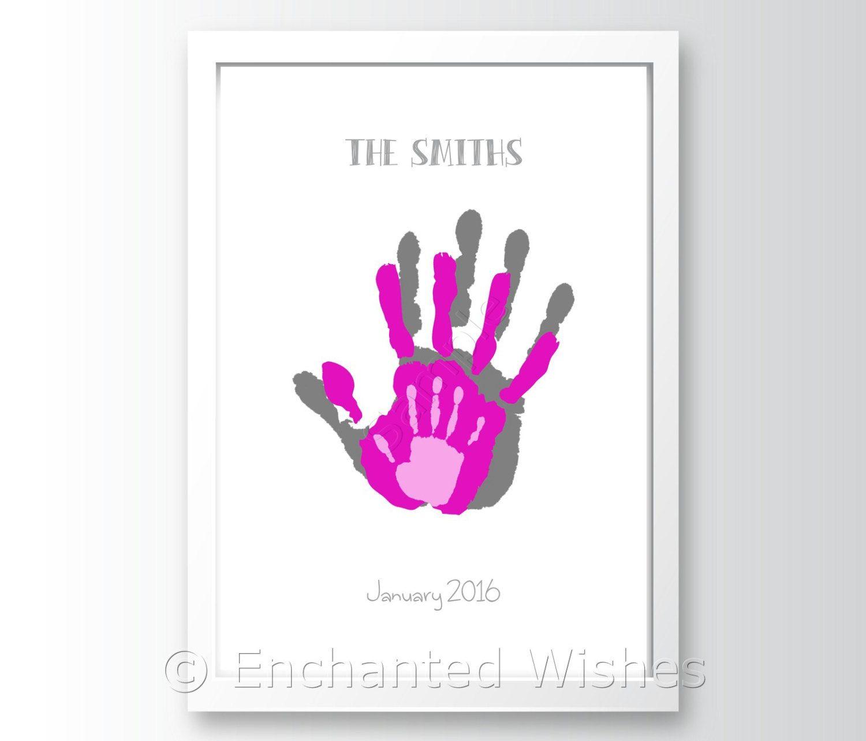 Family Handprint Art Print Hand Print Child By