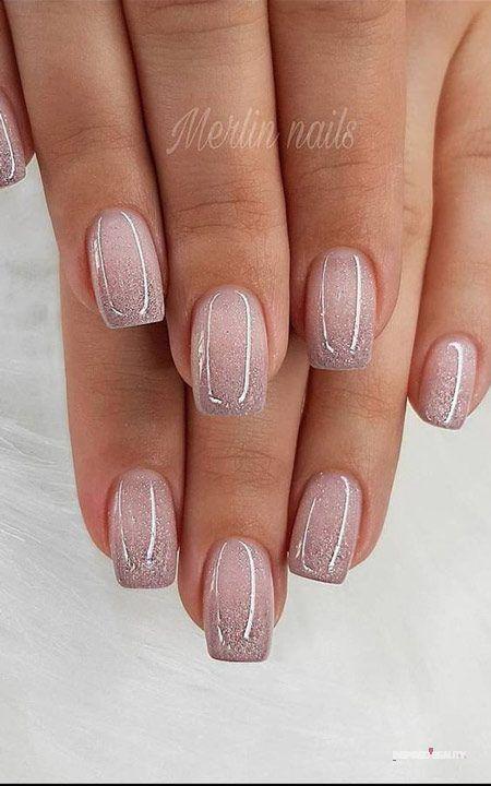 Nail inspiration in 2020 | Glitter gel nails, Brid